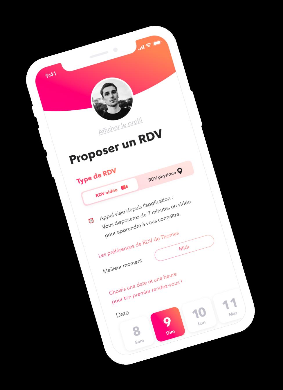 Smack Date - Proposition de rendez-vous sur l'application de rencontre